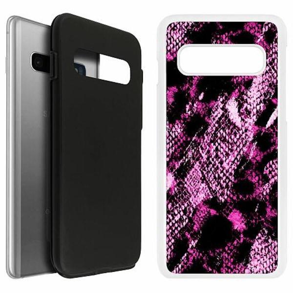 Samsung Galaxy S10 Duo Case Vit Snakeskin P