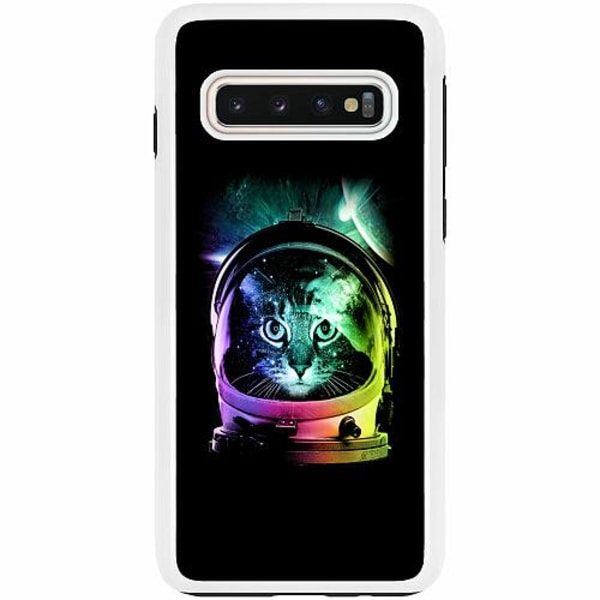 Samsung Galaxy S10 Duo Case Vit Space Cat