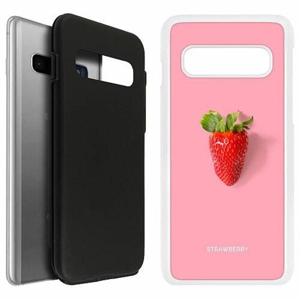 Samsung Galaxy S10 Duo Case Vit Strawberry