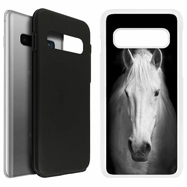 Samsung Galaxy S10 Duo Case Vit Vit Häst
