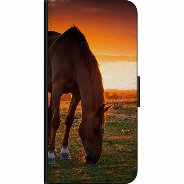 Samsung Galaxy A12 Fodralväska Häst / Horse