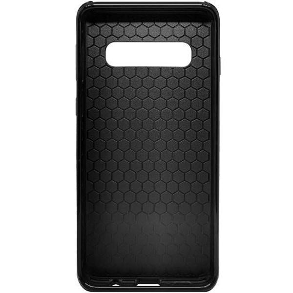 Samsung Galaxy S10 Heavy Duty 2IN1 Floral Pattern Black