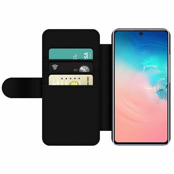 Samsung Galaxy S10 Lite (2020) Wallet Slim Case Blue Flower