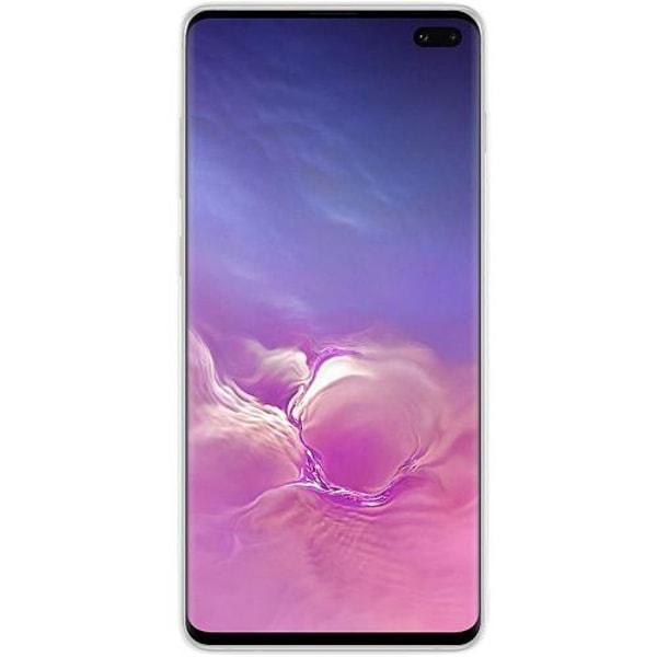 Samsung Galaxy S10 Transparent Mobilskal med Glas Coconut