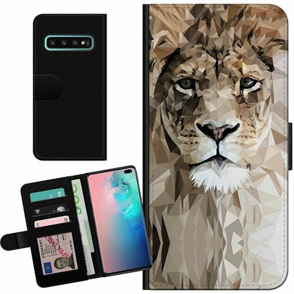 Samsung Galaxy S10 Plus Billigt Fodral Abstract Lion