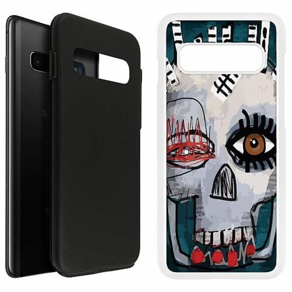 Samsung Galaxy S10 Plus Duo Case Vit ART