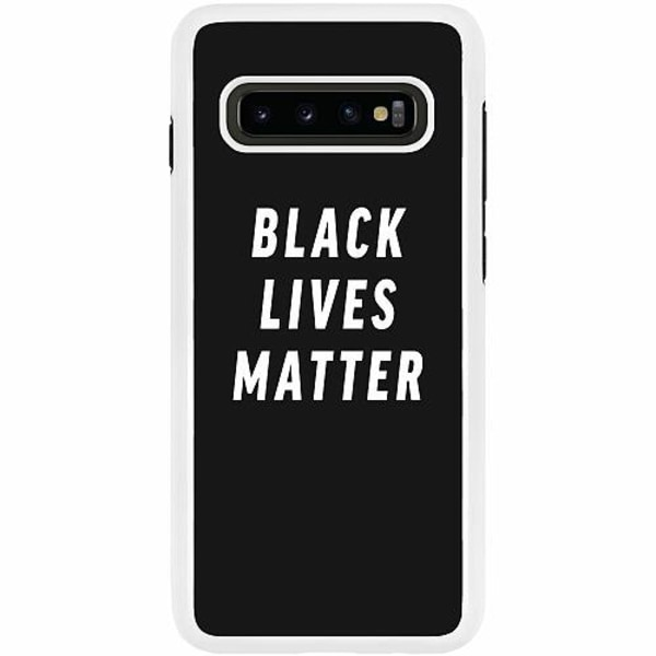 Samsung Galaxy S10 Plus Duo Case Vit Black Lives Matter
