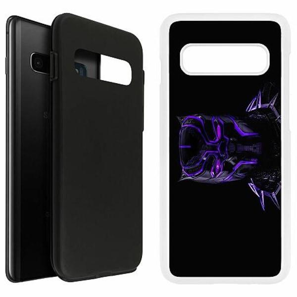 Samsung Galaxy S10 Plus Duo Case Vit Black Panther