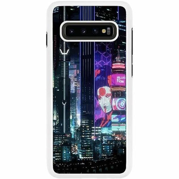 Samsung Galaxy S10 Plus Duo Case Vit Cyberpunk 2077