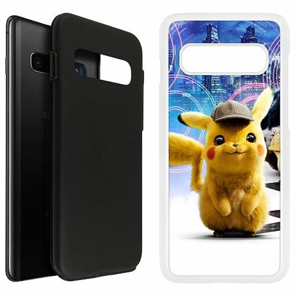 Samsung Galaxy S10 Plus Duo Case Vit Detective Pikachu - Pikachu