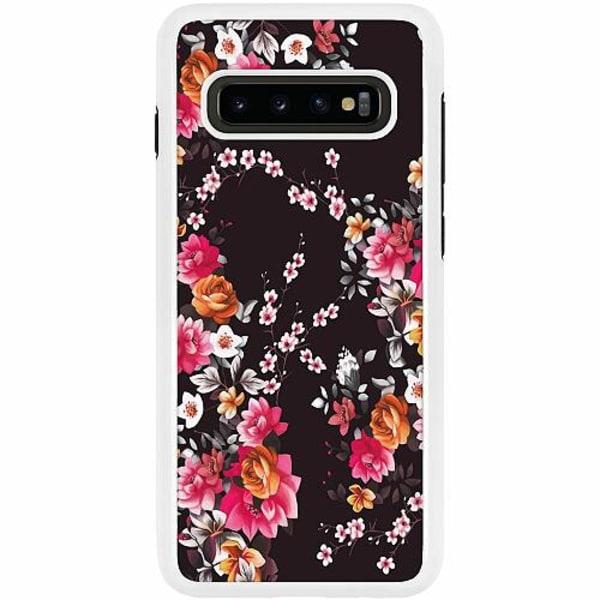 Samsung Galaxy S10 Plus Duo Case Vit Flower Splash