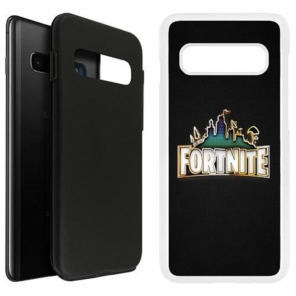 Samsung Galaxy S10 Plus Duo Case Vit Fortnite