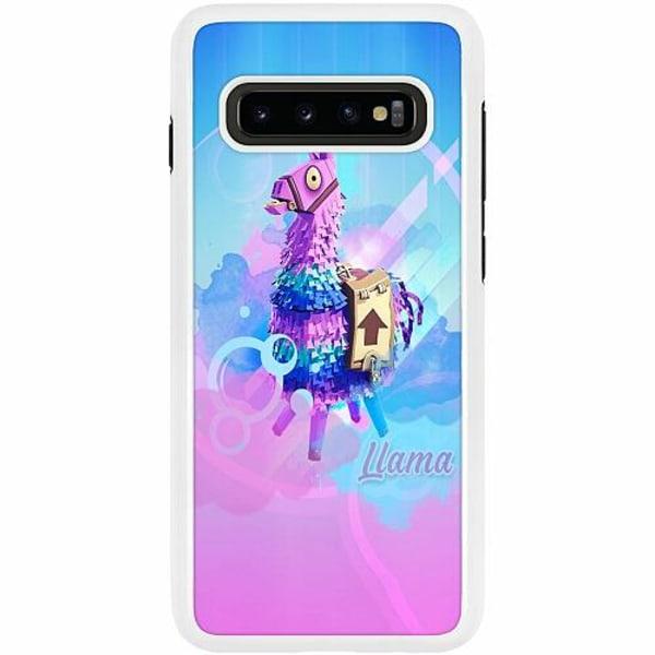 Samsung Galaxy S10 Plus Duo Case Vit Fortnite Loot Llama
