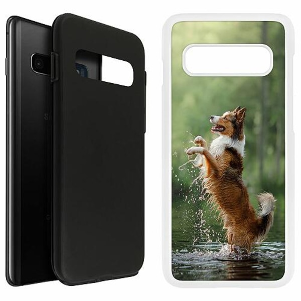 Samsung Galaxy S10 Plus Duo Case Vit Happy Dog