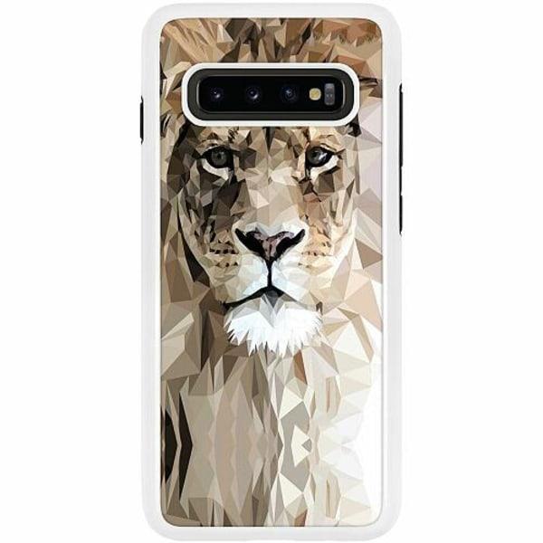 Samsung Galaxy S10 Plus Duo Case Vit Lejon