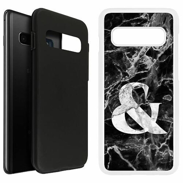Samsung Galaxy S10 Plus Duo Case Vit Marmor