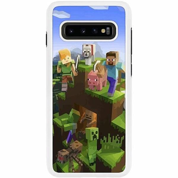 Samsung Galaxy S10 Plus Duo Case Vit MineCraft
