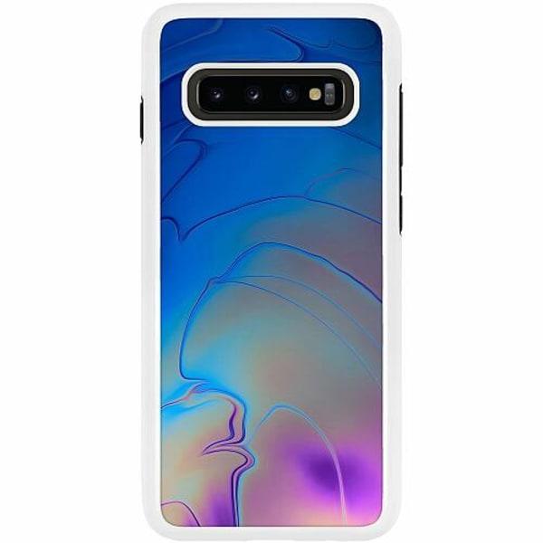 Samsung Galaxy S10 Plus Duo Case Vit Mönster