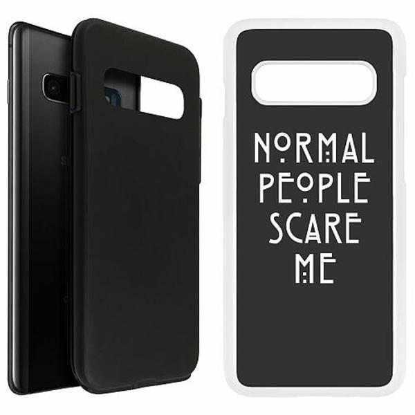 Samsung Galaxy S10 Plus Duo Case Vit Normal