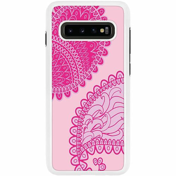 Samsung Galaxy S10 Plus Duo Case Vit Pinkish Life