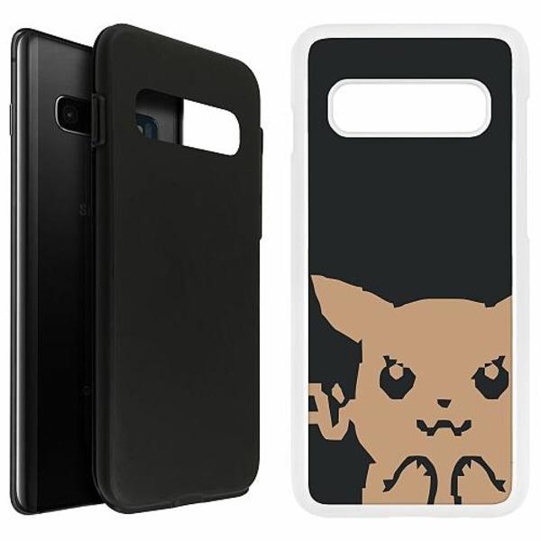 Samsung Galaxy S10 Plus Duo Case Vit Pixel art Pokémon