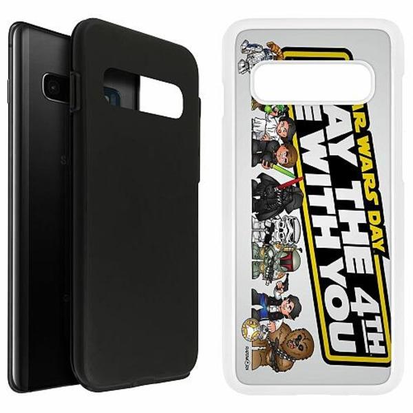 Samsung Galaxy S10 Plus Duo Case Vit Star Wars