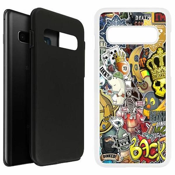 Samsung Galaxy S10 Plus Duo Case Vit Stickers