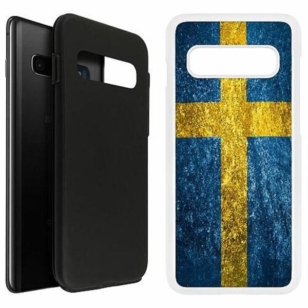 Samsung Galaxy S10 Plus Duo Case Vit Sweden