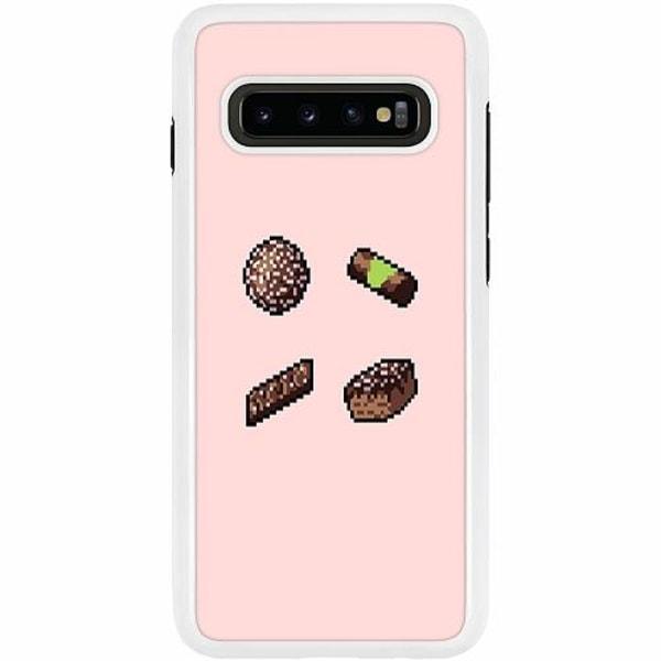 Samsung Galaxy S10 Plus Duo Case Vit Swedish FIKA pixel art