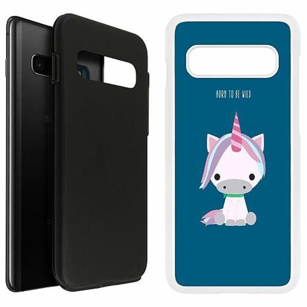 Samsung Galaxy S10 Plus Duo Case Vit UNICORN