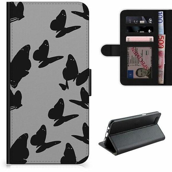 Apple iPhone 6 / 6S Lyxigt Fodral Dark Butterflies