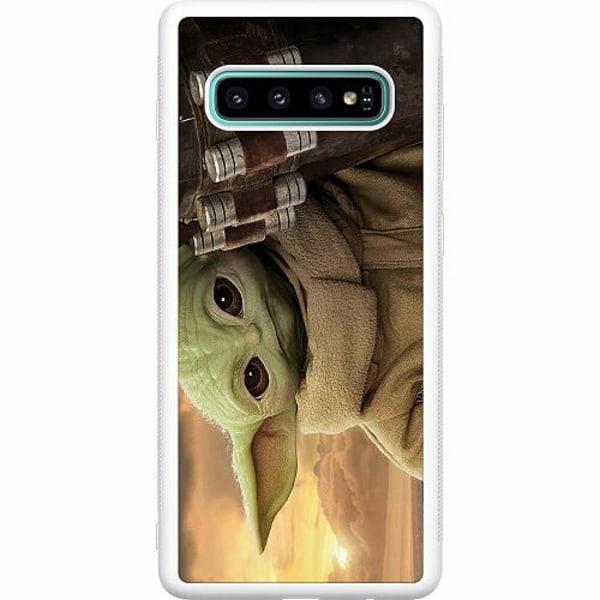 Samsung Galaxy S10 Plus Soft Case (Vit) Baby Yoda