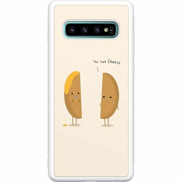 Samsung Galaxy S10 Plus Soft Case (Vit) Cheesy
