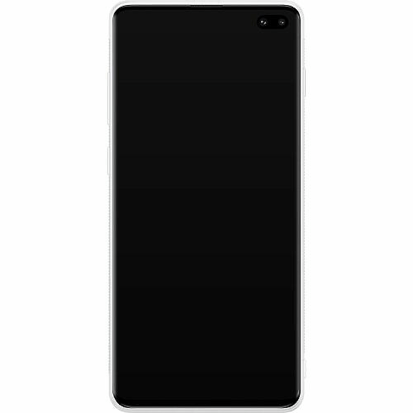 Samsung Galaxy S10 Plus Soft Case (Vit) Häst / Horse