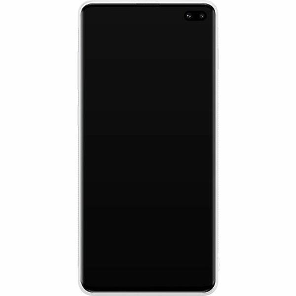 Samsung Galaxy S10 Plus Soft Case (Vit) Rythm and Blue Hues