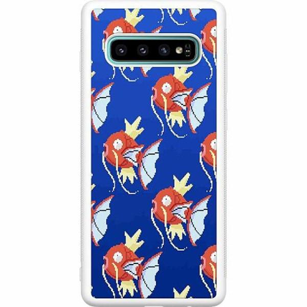 Samsung Galaxy S10 Plus Soft Case (Vit) Pixel art Pokémon