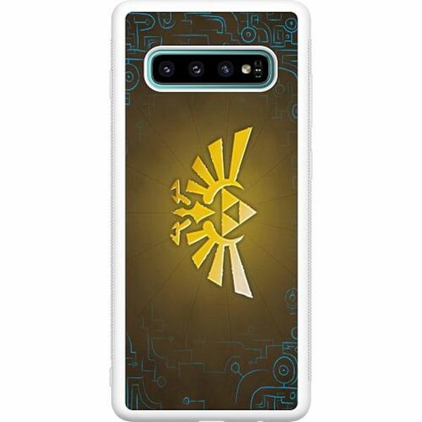 Samsung Galaxy S10 Plus Soft Case (Vit) The Legend Of Zelda