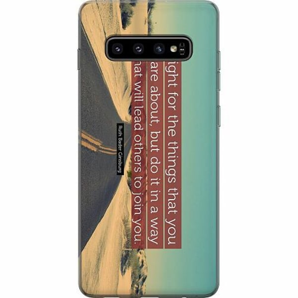 Samsung Galaxy S10 Plus Thin Case Ruth Bader Ginsburg (RBG)