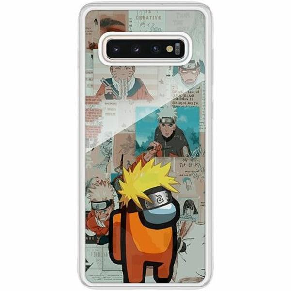 Samsung Galaxy S10 Plus Transparent Mobilskal med Glas Naruto