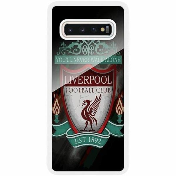 Samsung Galaxy S10 Vitt Mobilskal med Glas Liverpool L.F.C.
