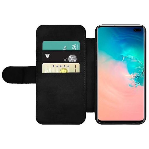 Samsung Galaxy S10 Plus Wallet Slim Case Floral Pattern Black