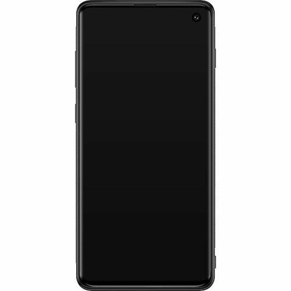 Samsung Galaxy S10 Soft Case (Svart) Cherry Blossom