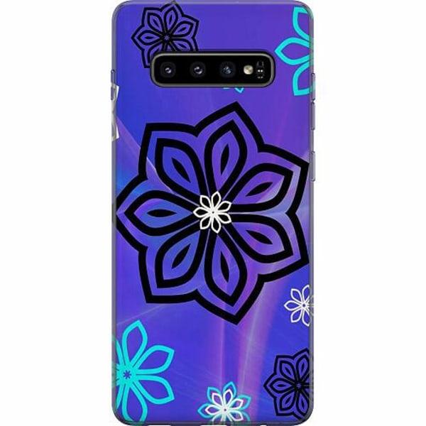 Samsung Galaxy S10 Plus Thin Case Flower on LCD
