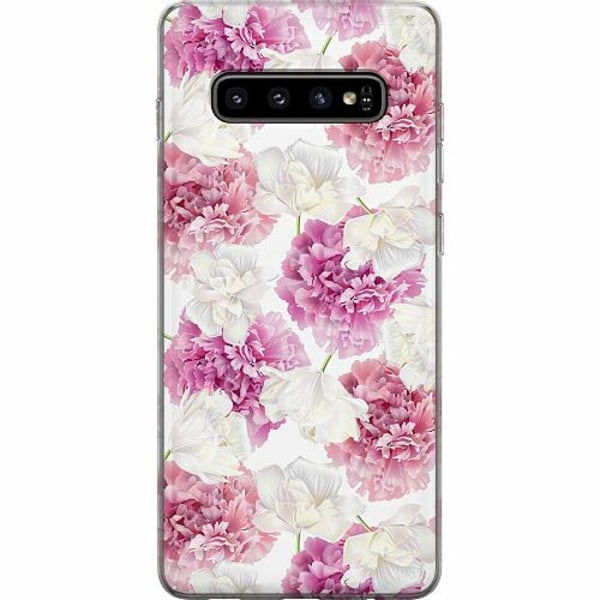 Samsung Galaxy S10 Plus Mjukt skal - Fluffy Flowers