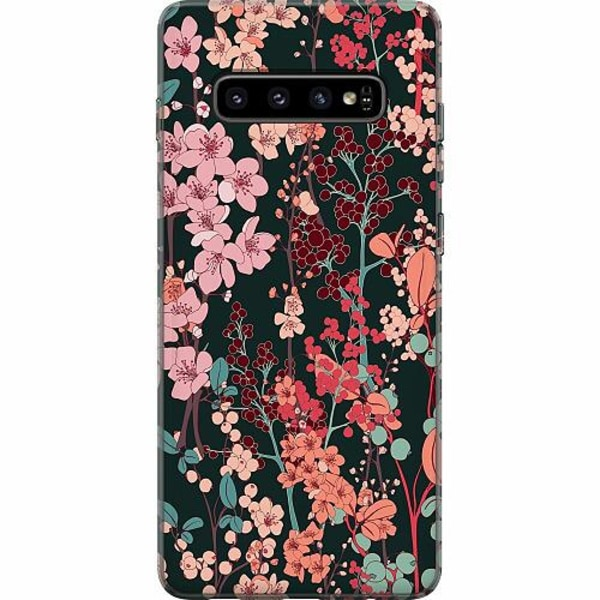 Samsung Galaxy S10 Thin Case Herbaceous Retro