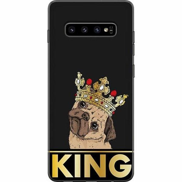Samsung Galaxy S10 Plus Mjukt skal - KING of all Pugs
