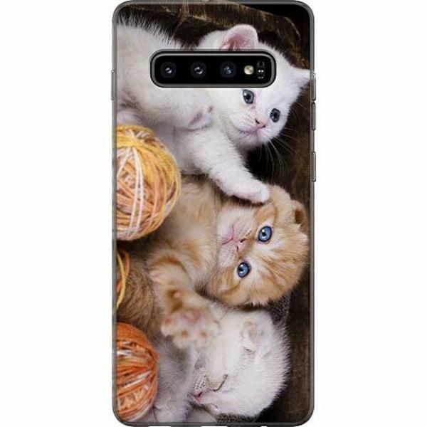 Samsung Galaxy S10 Plus Mjukt skal - Kittens and Yarn