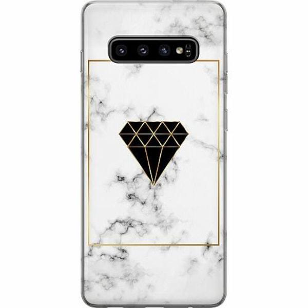 Samsung Galaxy S10 Plus Mjukt skal - Marble Diamond