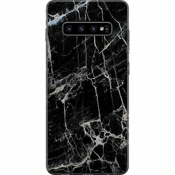 Samsung Galaxy S10 Plus Mjukt skal - Marmor Svart