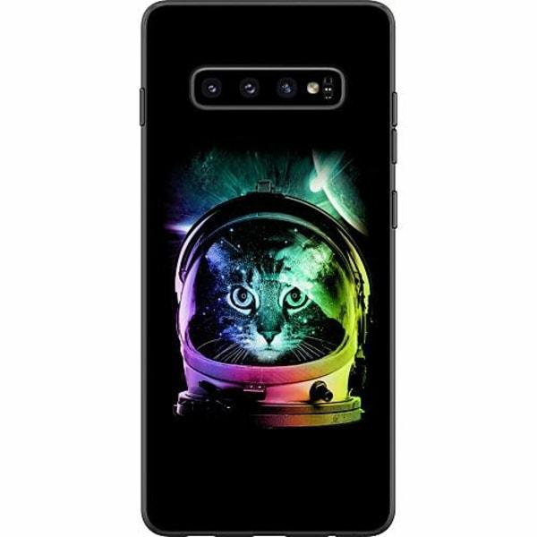Samsung Galaxy S10 Plus Mjukt skal - Space Cat